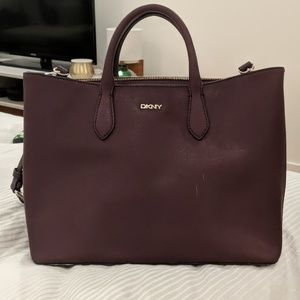 DKNY purple large satchel
